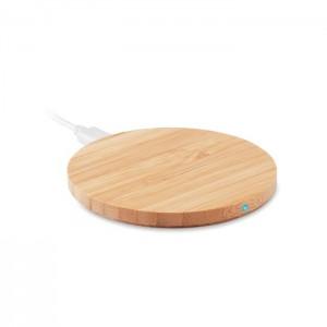 Cargador inalámbrico de bambú RUNDO | MO9434
