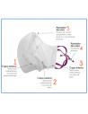 Mascarilla higiénica antibacteriana con ajustador de nariz y de orejas | CH2710